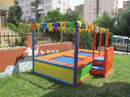 çiftli trampolin 300*200*200