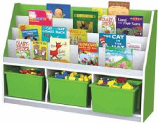 oyuncak kutulu kitaplık