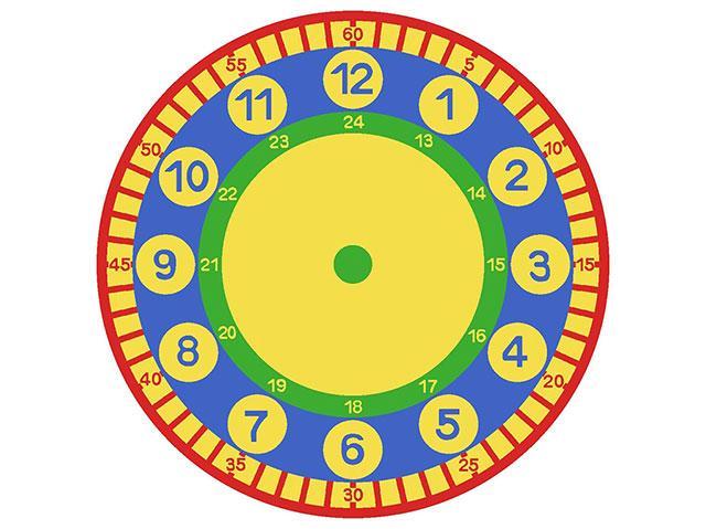saat halı çap:200 cm(SARI BUKLE)