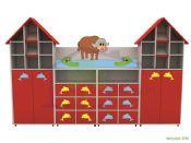 çatı figürlü anaokulu dolap sistemi