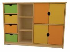 kapaklı çekmeceli ana okulu dolap sistemi
