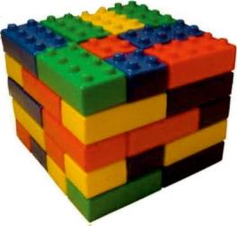 36 Parça Tuğla Blok