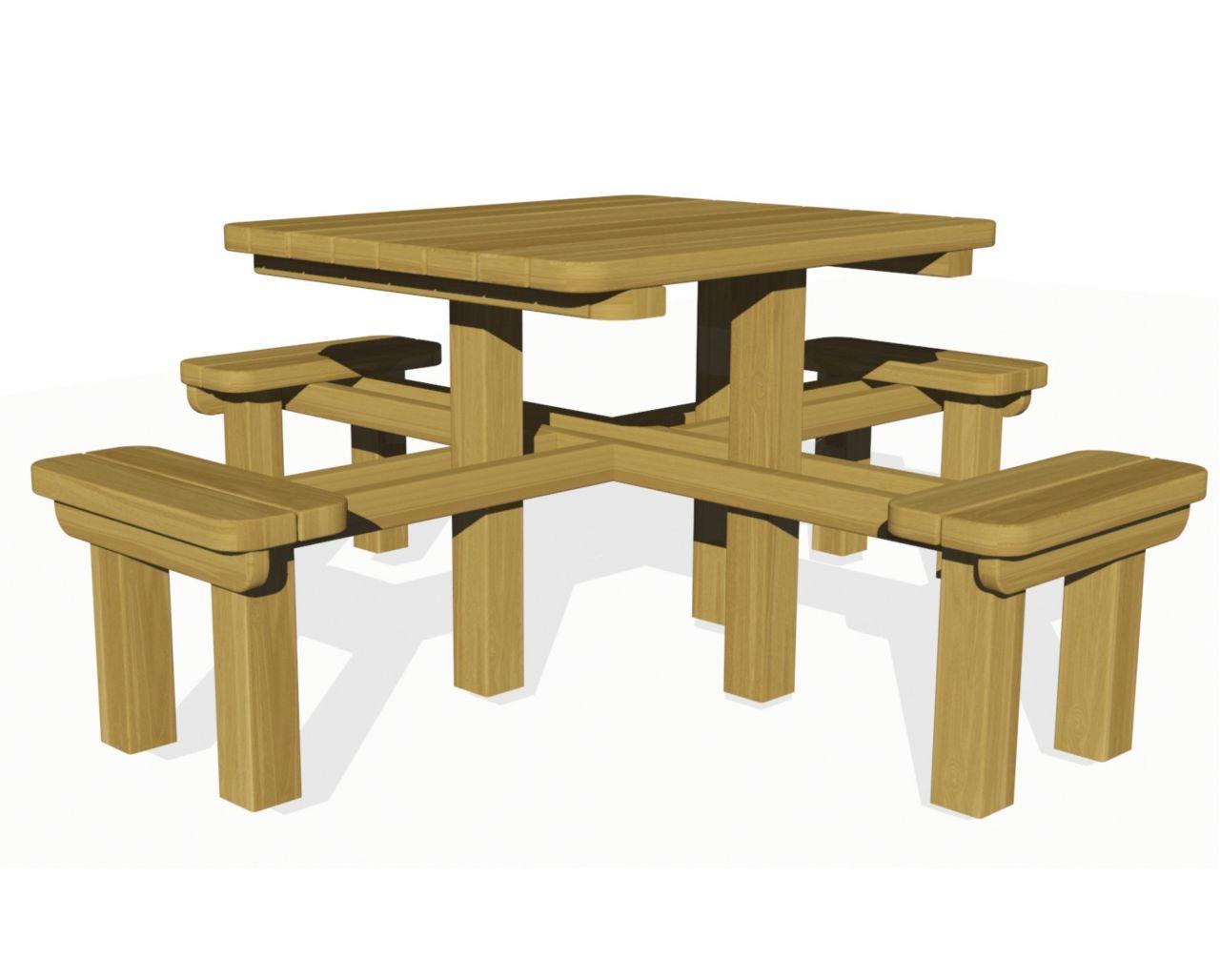 naturel piknik masası